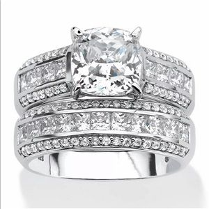 925 bridal stunt classic engagement shiny ring